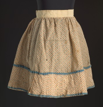 Printed floral skirt worn by Lucy Lee Shirley as a child