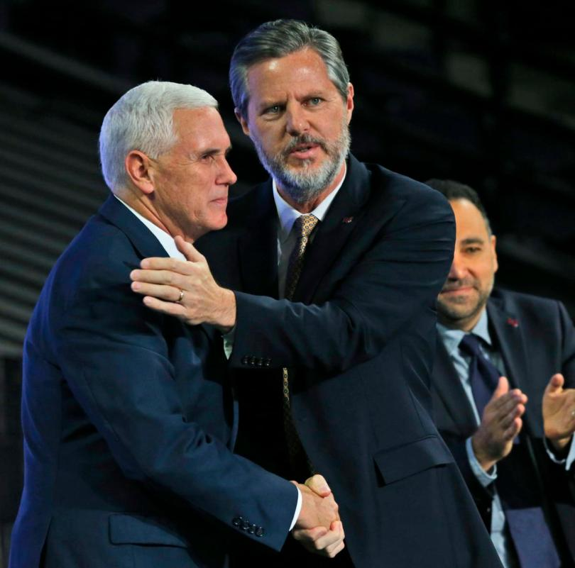 Mike Pence,Jerry Falwell Jr.