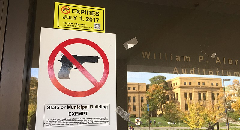 No Guns Sign KU - Sara Shepherd LJW