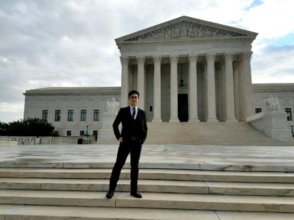 Simon Tam at the Supreme Court